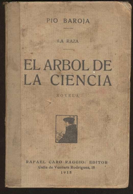 Pio Baroja Book El Arbol De La Ciencia 1 Ed 1918 Ebay